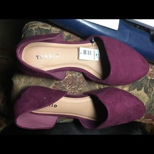 BURGUNDY PURPLE D'ORSAY FLAT (WW)